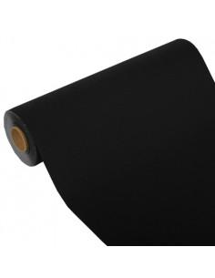 Camino de mesa papel aspecto tela Royal Collection negro 24 m x 40 cm