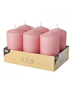 Velas de taco decorativas rosa claro Ø 60 x 115mm