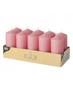 10 Velas de Taco Color Rosa Ø 40 x 90mm