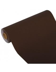 Camino de mesa papel aspecto tela Royal Collection marrón 24 m x 40 cm