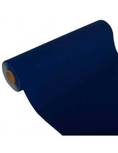 Camino de mesa papel aspecto tela Royal Collection azul oscuro 24 m x 40 cm
