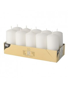 Velas de taco pequeñas color blanco Ø 40 x 90 mm