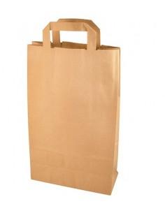 Bolsas de papel kraft con asas color marrón 36 x 22 x 10 cm
