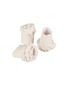 100 Decoración de Aves Papel Blanco Ø 1,8 cm x 4,5 cm