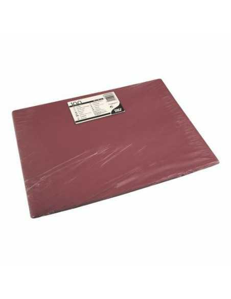 Mantelitos individuales papel burdeos 30 x 40 cm
