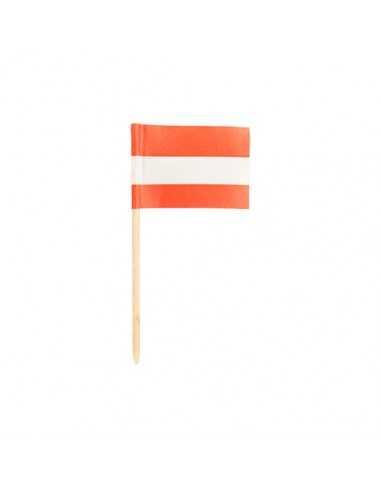 200 Palillos Bandera Austria Decorativos 8cm