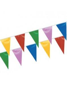 Cadena banderines decorativos de plástico colores 4 m