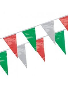 Cadena Banderines Plástico Color Bandera Italiana 4m Impermeable