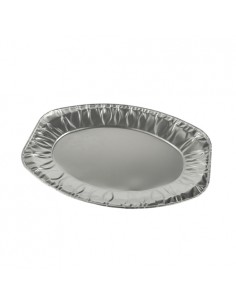 Bandejas aluminio desechables ovales 35 x 24,5 cm