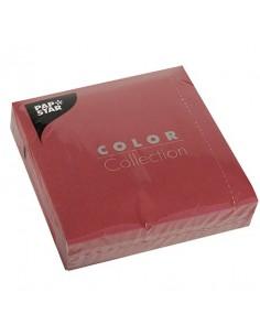 50 Servilletas de Papel Tisú Color Burdeos 33 x 33cm