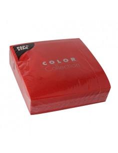 50 Servilletas Papel Tisú Color Rojo 33 x 33cm
