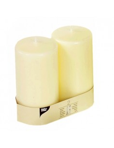 Velas de taco Ivory color marfil Ø 80 x 150mm