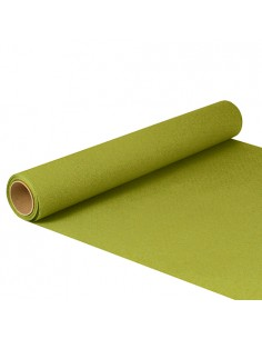 Camino de mesa papel color verde oliva 5 m x 40cm Royal Collection
