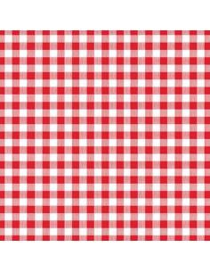 Servilletas de papel cuadro vichy rojo blanco 33 x 33cm