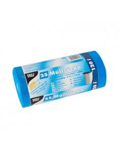 Sacos basura de plástico color azul 120 litros