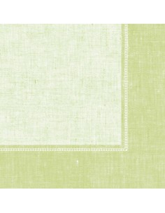 50 Servilletas Decoradas Color Verde Claro Royal Collection 40x40 cm Linum
