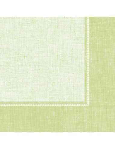 Servilletas papel decoradas Royal Collection Linum verde claro 40 x 40 cm