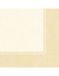 Servilletas papel decoradas Royal Collection Linum Champan 40 x 40 cm