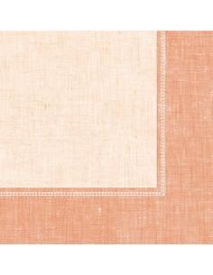 Servilletas papel decoradas Royal Collection Linum terracota claro 40 x 40 cm