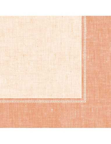Servilletas papel decoradas Royal Collection Linum terracota claro 40 x 40 cm