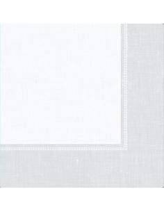 Servilletas papel decoradas Royal Collection Linum blanco 40 x 40 cm