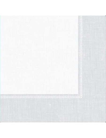Servilletas papel decoradas Royal Collection Linum blanco 40 x 40 cm