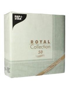 Servilletas papel decoradas Royal Collection Linum verde 40 x 40 cm