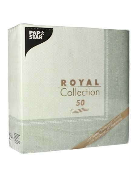 50 Servilletas Decoradas Color Verde Royal Collection 40x40 cm Linum