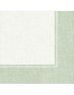 Servilletas papel decoradas Royal Collection Linum verde 40 x 40 cm