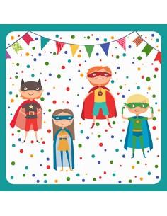 20 Servilletas Papel Decoración Infantil Super Heroe 33 x 33cm