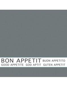 Servilletas papel gris impresa Bon Appetit 33 x 33 cm