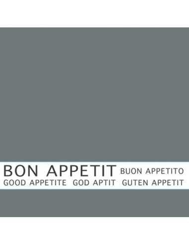 30 Servilletas Color Gris Con Impresión 33 x 33 cm Bon Appetit