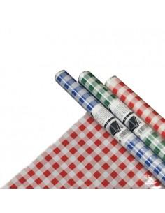 Mantel Plástico 5m x 80cm Colores Surtidos Cuadriculado