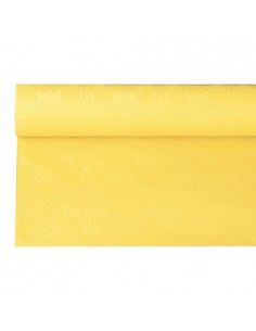 Rollo mantel papel color amarillo con gofrado damasco 6 x 1,2m