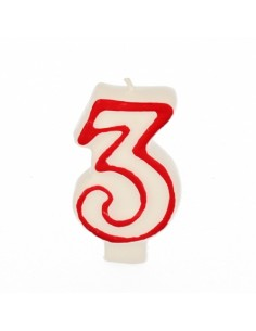 "Vela Cumpleaños Número ""3""..."