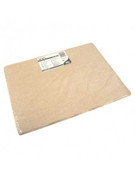 Mantelitos individuales hostelería papel color arena 30 x 40cm Cotton Style