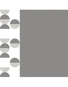 20 Servilletas Decoradas Papel Color Gris Blanco 40 x 40 cm Pastilles