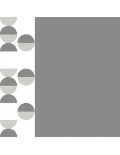 Servilletas de papel decoradas gris blanco 40 x 40 cm