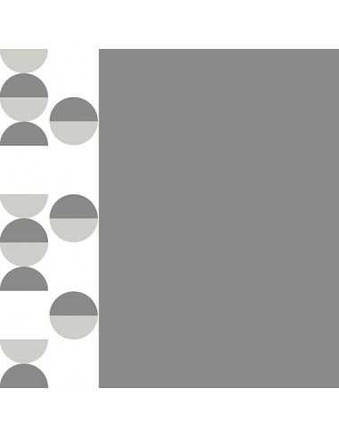 20 Servilletas Decoradas Papel Color Gris Blanco 40 x 40 cm Pastilles