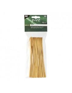 Tenedores de madera bambú resistentes Pure 16,5 cm