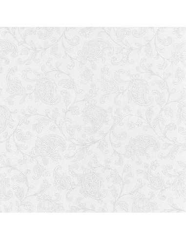 Servilletas papel decoradas Royal Collection color blanco 48 x 48 cm Ornaments