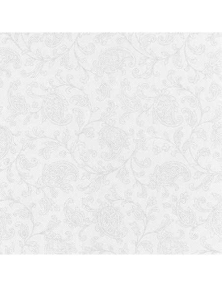50 Servilletas Decoradas Royal Collection 48 x 48cm Color Blanco Ornaments