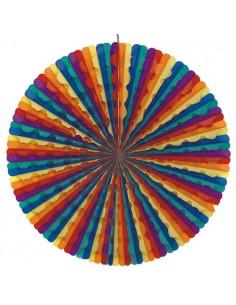 Rueda papel decoración verbenas abanico colores Ø 70 cm Rainbow