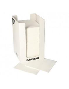 100 Servilletas Punto 20 x 20 cm Blanco Micro-Gofrado