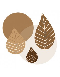 20 Servilletas Papel Decoradas 40 x 40cm Graphic Leaves Natural