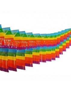 Guirnalda decorativa plana papel colores para grandes espacios 10 m