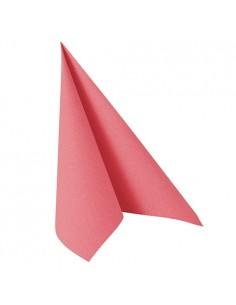20 Servilletas Papel Tisú Aspecto Tela Color Rosa Royal Collection 40 x 40cm