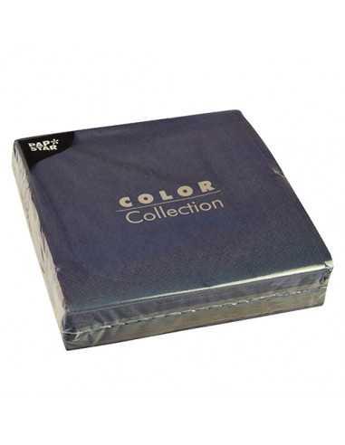 Servilletas de papel color azul oscuro 40 x 40 cm