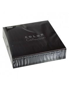 50 Servilletas de Papel de 2 Capas Color Negro 40x40cm