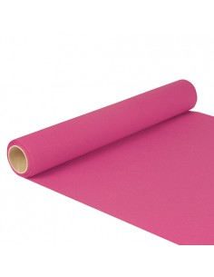 Camino de mesa papel color rosa fucsia 5 m x 40cm Royal Collection